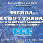 LA CCC CON LA UTEP y LAS ORGANIZACIONES SOCIALES MARCHA  CON LA CGT